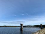 明治元年に作られたダムの湖